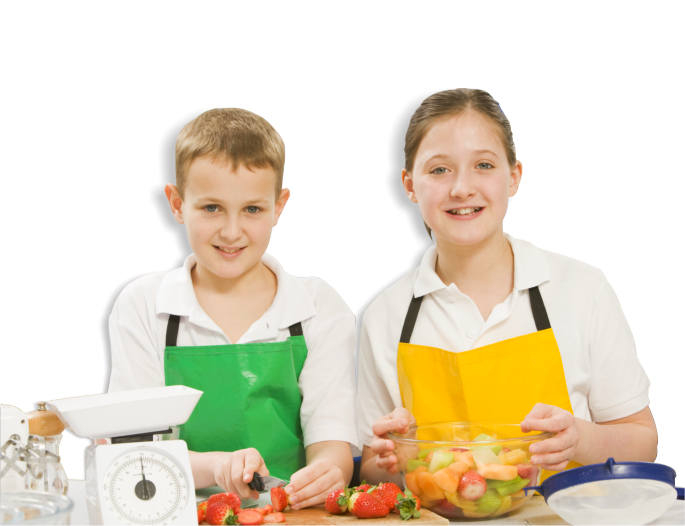 kids cooking food