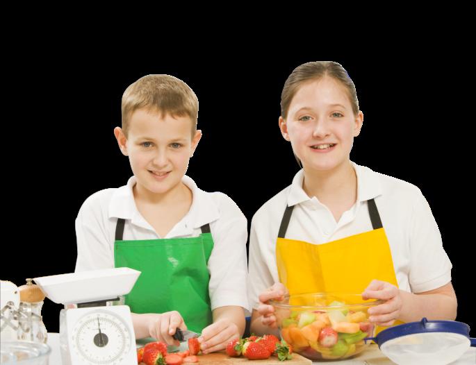 kids cooking food